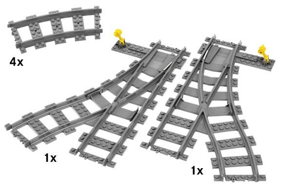 Лего 7895 - Железнодорожные стрелки LEGO