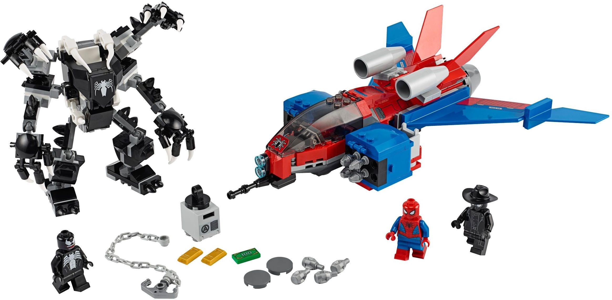 Реактивный самолёт Человека-Паука против Робота Венома